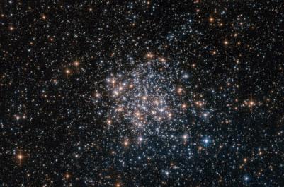 新的Hubble图像的球状星团NGC 1854