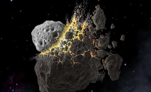 一次巨大的小行星坠毁引起的尘埃导致了一个古老的冰河时代