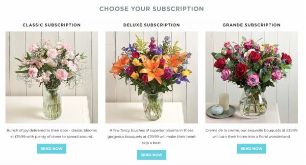 Serenata Flowers推出可定制的订阅服务