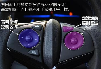 汽车知识科普:本田XNV方向盘按键功能图解