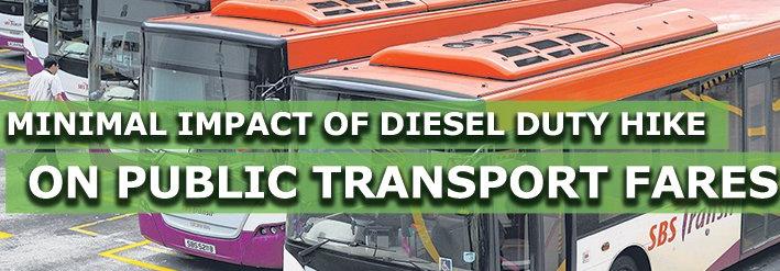 柴油税上调对公共交通票价的影响预计很小