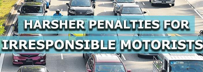 对不负责任的驾驶者的新罪行和更严厉的处罚