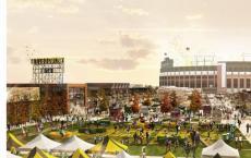 今年秋季开始在Lambeau Field附近的商业区开工建设