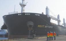 河北文丰集团海外自产铁矿粉顺利回运到港